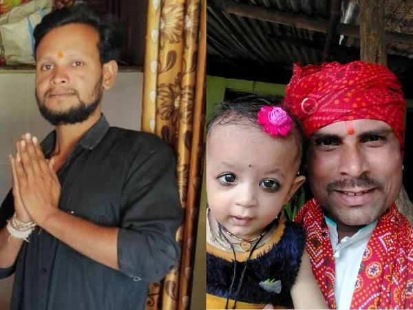 પ્રદીપ દુબે અને તેમની પુત્રી દિવ્યાંશી. કમલ સાધ લોવંશી (કાળો શર્ટ પહેરીને) - Divya Bhaskar