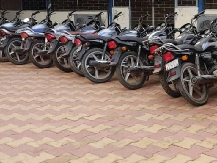 આરોપીઓએ ચોરી કરેલ મોટર સાયકલ