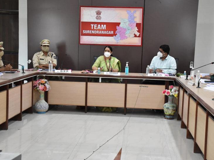 સુરેન્દ્રનગરમાં રાષ્ટ્રીય સફાઇ કામદાર આયોગના સભ્યએ અધિકારીઓની સાથે બેઠક યોજી હતી. - Divya Bhaskar