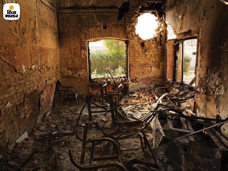 ઓક્ટોબર 2015: અફઘાનિસ્તાનના કુંદુજ પ્રાંતની એક હોસ્પિટલ પર યુએસના હવાઇ હુમલોમાં 42 લોકોનાં મોત થયાં હતાં. અમેરિકન લોકોએ એને માનવીય ભૂલ ગણાવી હતી. ફોટો: એડમ ફર્ગ્યુસન.
