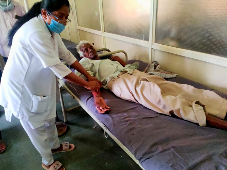 વડદલા ગામે સ્મશાનમાં હાંડલીના ધુમાડાથી ભમરા ઉડી કરડવાથી ઇજા ડાધુઓ સારવાર લઈ રહ્યા છે - Divya Bhaskar