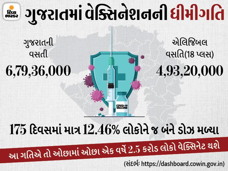 ગુજરાતમાં આ ગતિએ વેક્સિનેશન ચાલશે તો હજી એક વર્ષે હર્ડ ઇમ્યુનિટી આવશે|અમદાવાદ,Ahmedabad - Divya Bhaskar