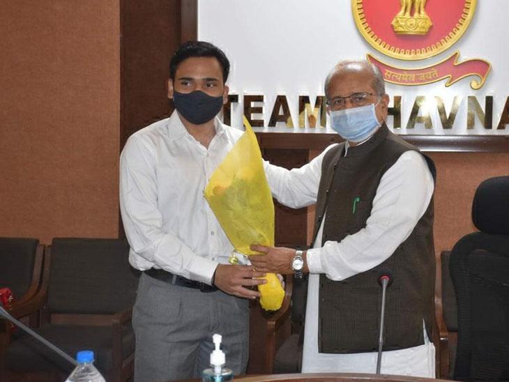 પ્રજ્ઞાચક્ષુ જયંત માનકલેને IAS પરીક્ષામાં ટોપ-200માં સ્થાન|ભાવનગર,Bhavnagar - Divya Bhaskar