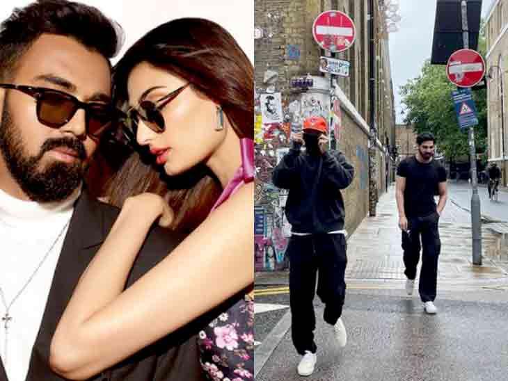 ક્રિકેટર કે એલ રાહુલ કથિત પ્રેમિકા અથિયા શેટ્ટીના ભાઈ અહાન સાથે લંડનની ગલીઓમાં જોવા મળ્યો|બોલિવૂડ,Bollywood - Divya Bhaskar