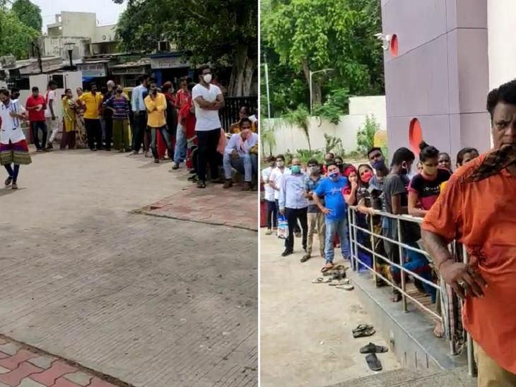 વેક્સિન માટે રવિવારે પણ અમદાવાદીઓને ધરમ ધક્કો થયો, રોજના 400ની સામે સેન્ટરને 100 ડોઝ મળતા લોકો વીલા મોઢે પાછા ફર્યા|અમદાવાદ,Ahmedabad - Divya Bhaskar