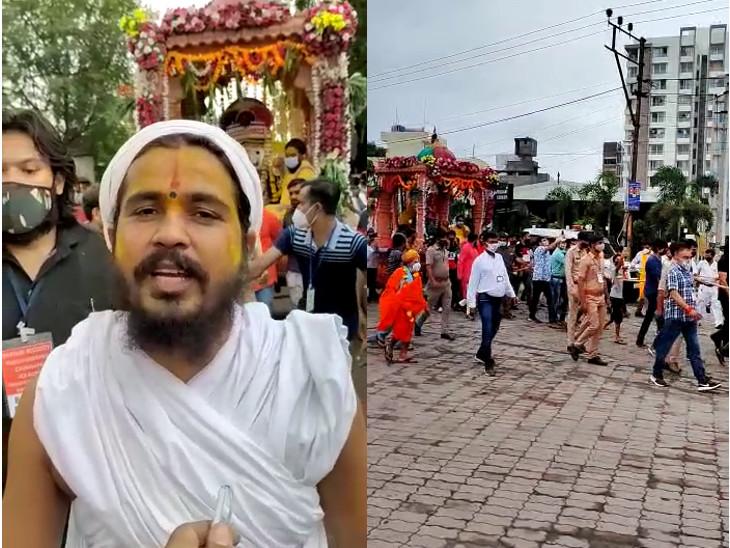 કૈલાસધામ આશ્રમના મંદિરના મુખ્ય સ્વામી ત્યાગી મોહનદાસજી ગુરુ રામકિશોરદાસજી