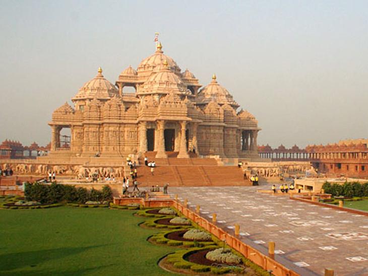 આજથી અક્ષરધામ મંદિરના દ્વાર ખૂલશે, સવારે 10થી સાંજે 7:30 સુધી એન્ટ્રી મળશે|ગાંધીનગર,Gandhinagar - Divya Bhaskar