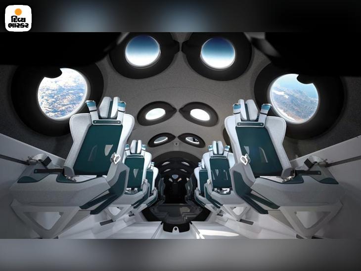 વર્જિન સ્પેસશિપ યુનિટની કેબિનમાં 16 કેમેરા છે. આ જ કેમેરાથી મિશન દરમિયાન એચડી વીડિયો મોકલવામાં આવ્યો છે. પર્યટકોને પણ આવી તસવીરો અને વીડિયો બતાવવામાં આવશે.