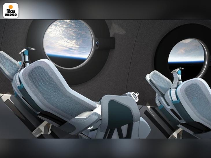 વર્જિન સ્પેસશિપ યુનિટ કેબિનની દરેક 6 સીટ રિક્લાઈનિંગ છે, જેથી યાત્રી બૂસ્ટ અને રિએન્ટ્રી દરમિયાન પડતા ગુરુત્વાકર્ષણની ઝીલી શકે.