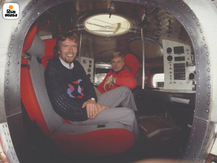 1987માં 36 વર્ષના બ્રેન્સેને પ્રખ્યાત બલૂન ડિઝાઈનર લિન્ડસ્ટ્રેડ સાથે હોટએર બલૂનથી એટલાન્ટિકા મહાસાગર ક્રોસ કર્યો હતો. તસવીરોમાં બંને વર્જિન બલૂનની કેબિન દેખાઈ રહી છે.