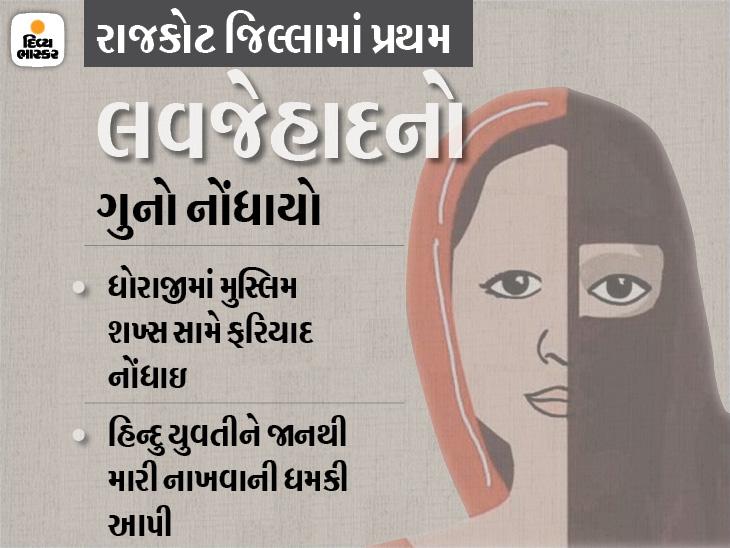 ધોરાજીમાં પરિણીત મુસ્લિમ શખ્સે હિન્દુ યુવતીને લગ્નની લાલચ આપી દુષ્કર્મ આચર્યું, સો.મીડિયામાં કલમા મોકલી મૌલવી પાસે ધર્મ અંગીકાર કરવા ધમકી રાજકોટ,Rajkot - Divya Bhaskar