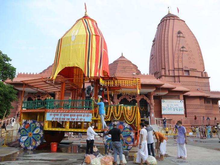 આજે રથયાત્રા, ભગવાન નગરચર્યાએ નહીં નીકળે, 200 મીટરના પરિસરમાં જ રથ ફરશે|સુરત,Surat - Divya Bhaskar