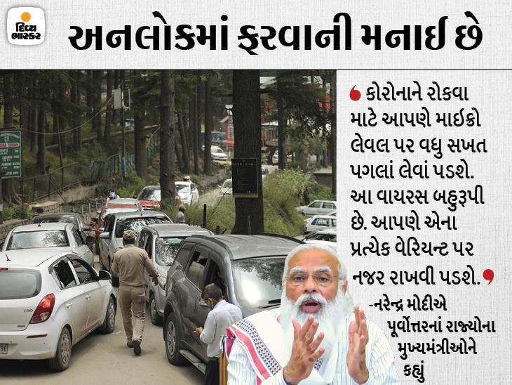 PM મોદીએ હિલ સ્ટેશન પર એકત્રિત થયેલી ભીડ બાબતે ચિંતા વ્યક્ત કરી; કહ્યું- ત્રીજી લહેર એની જાતે નહિ આવે|ઈન્ડિયા,National - Divya Bhaskar