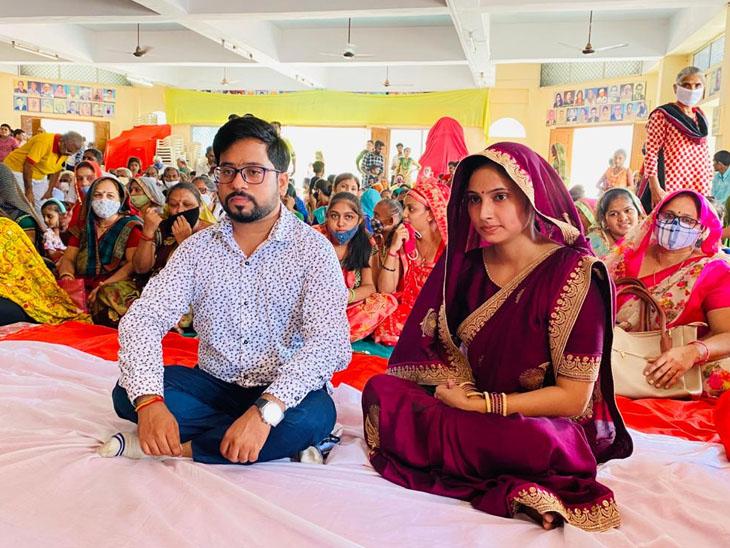 લગ્ન કરનાર યુવક અને યુવતીની તસવીર. - Divya Bhaskar
