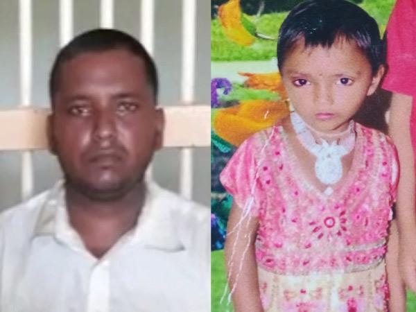 ડાબેથી આરોપી પિતા અને જમણે મૃતક દીકરીની તસવીર - Divya Bhaskar