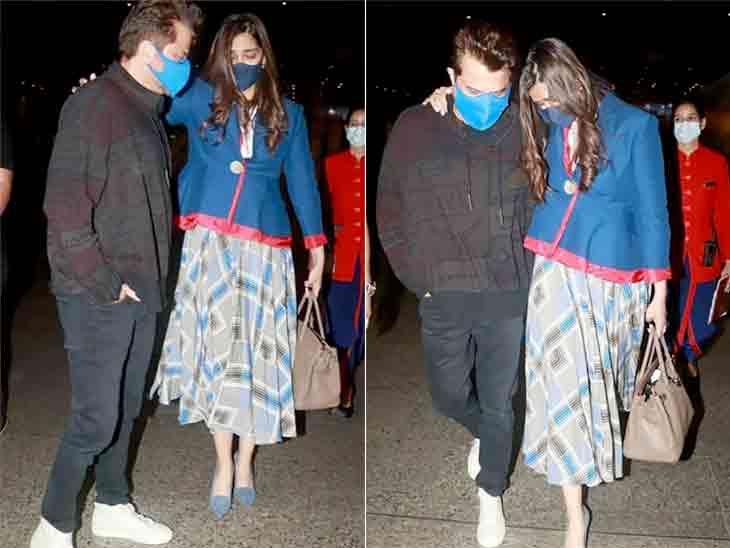 મહિનાઓ પછી સોનમ કપૂર પપ્પાને મળી, એરપોર્ટ પર અનિલ કપૂરને જોતા જ રડવા લાગી બોલિવૂડ,Bollywood - Divya Bhaskar