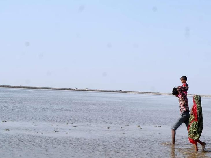 મીઠા માટે જાણીતું રણ મિની સમુદ્રમાં ફેરવાયું. - Divya Bhaskar