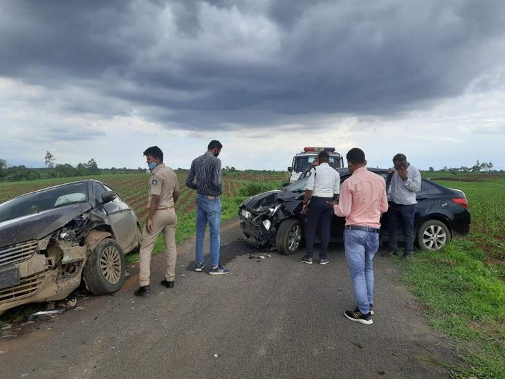 પોલીસે દારૂ ભરેલી કારનો પીછો કરતા ફિલ્મી દ્રશ્યો સર્જાયાં, એક GRD જવાનને ઇજા પહોંચી. - Divya Bhaskar