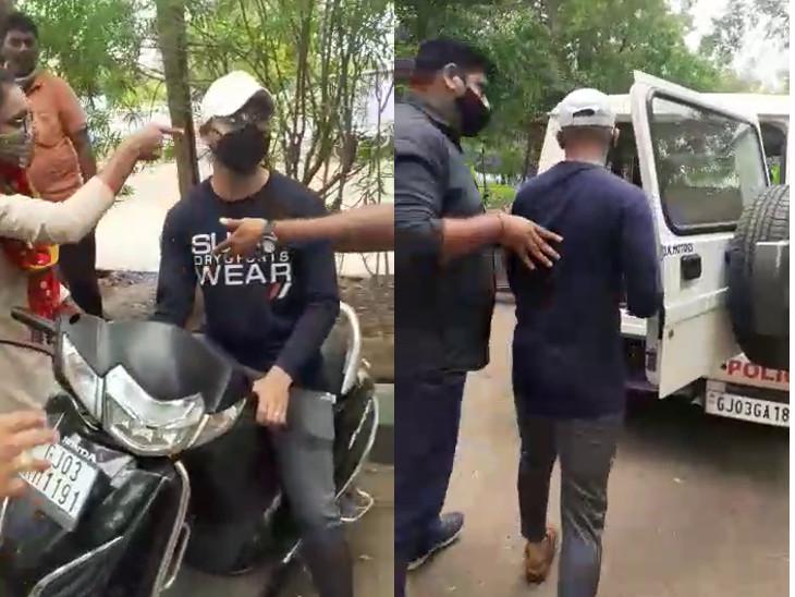 રાજકોટમાં અધિક કલેકટરના PAનો પુત્ર બન્યો નકલી PI, લવ ગાર્ડનમાં પ્રેમી યુગલ સામે પોલીસ હોવાનો રોફ જમાવતા ઝડપાયો, ફરિયાદ દાખલ|રાજકોટ,Rajkot - Divya Bhaskar