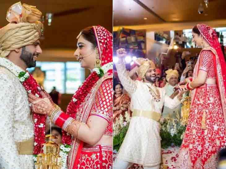 સિંગર રાહુલ વૈદ્યે દિશા પરમાર સાથે લગ્ન કર્યાં, જાનમાં વરરાજાએ જાનૈયાઓ સાથે ડાન્સની જમાવટ કરી ટીવી,TV - Divya Bhaskar
