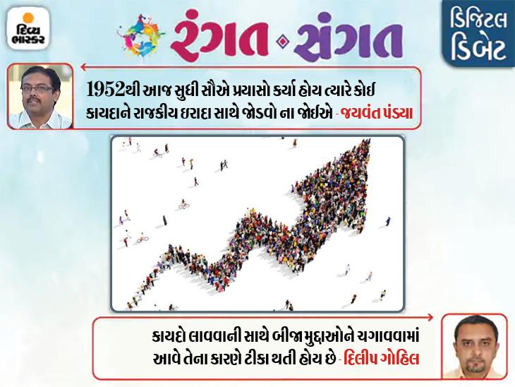 વસતિ નિયંત્રણ માટે કાયદો કરવાની જરૂર છે ખરી?|રંગત-સંગત,Rangat-Sangat - Divya Bhaskar
