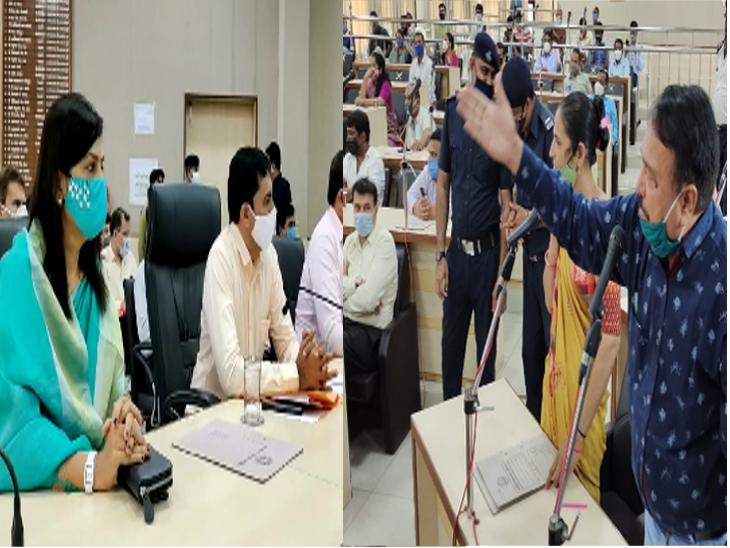 મનપાના જનરલ બોર્ડમા પ્રજાના પ્રશ્નોનો ઉલાળિયો કરી કોંગ્રેસ-ભાજપ આમને સામને,લાયબ્રેરી મુદ્દે 58 મિનિટ સુધી ઉગ્ર ચર્ચા કરી, છેલ્લી 2 મીનીટમાં દરખાસ્તો મંજુર કરી રાજકોટ,Rajkot - Divya Bhaskar