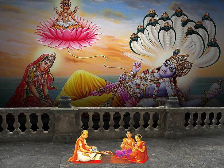 ભાગવત મહાપુરાણ પ્રમાણે 4 મહિના સુધી ભગવાન વિષ્ણુ ક્ષીરસાગરમાં યોગ નિદ્રામાં સૂવે છે|ધર્મ,Dharm - Divya Bhaskar