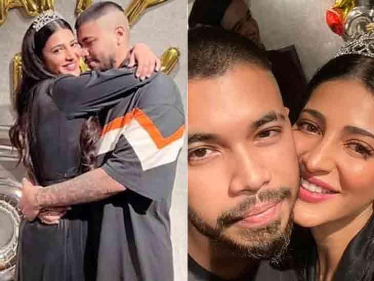 બોલિવૂડ એક્ટ્રેસ શ્રુતિ હાસને મુંબઈના મોલમાં બોયફ્રેન્ડને કિસ કરી, તસવીર સો.મીડિયામાં વાઇરલ|બોલિવૂડ,Bollywood - Divya Bhaskar