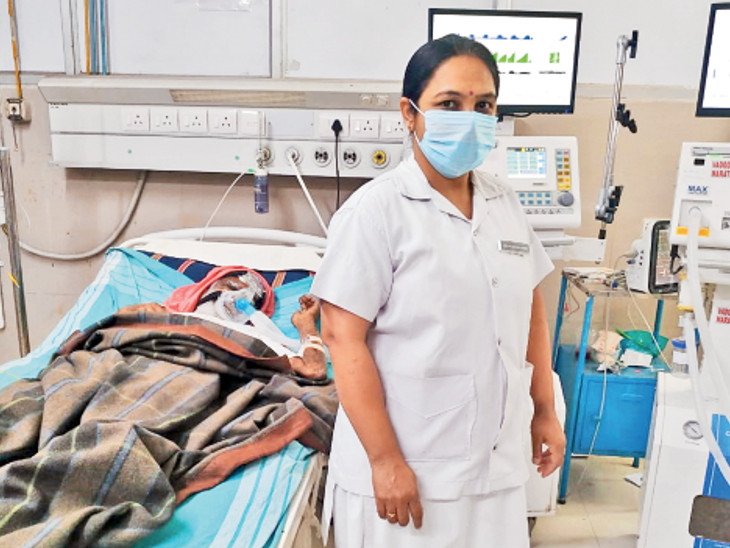 ગોત્રી GMERS હોસ્પિટલના ડેપ્યુટી મેટ્રન વર્ષા રાજપૂત અને તેમની 300 નર્સે 5 હજાર દર્દીઓને સાચવ્યાં|વડોદરા,Vadodara - Divya Bhaskar
