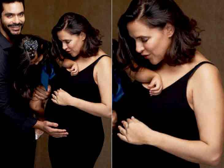 બોલિવૂડ એક્ટ્રેસ નેહા ધૂપિયા બીજીવાર પ્રેગ્નન્ટ, પતિ અંગદ સાથે તસવીર શૅર કરીને કહી આ વાત|બોલિવૂડ,Bollywood - Divya Bhaskar