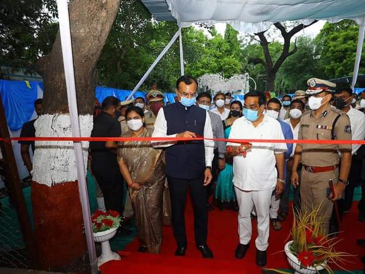 રાજ્યના ગૃહમંત્રીએ નવનિર્મિત પાંડેસરા પોલીસ સ્ટેશનનું લોકાર્પણ કર્યું હતું. - Divya Bhaskar