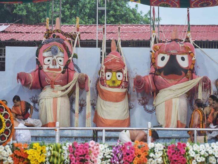 ગુંડિચા મંદિરમાં ભગવાન જગન્નાથ, બળભદ્ર અને દેવી સુભદ્રા સાતેય દિવસ સુધી આરામ કરે છે. આ મંદિરમાં ભગવાનના દર્શનને આડપ દર્શન કહેવાય છે