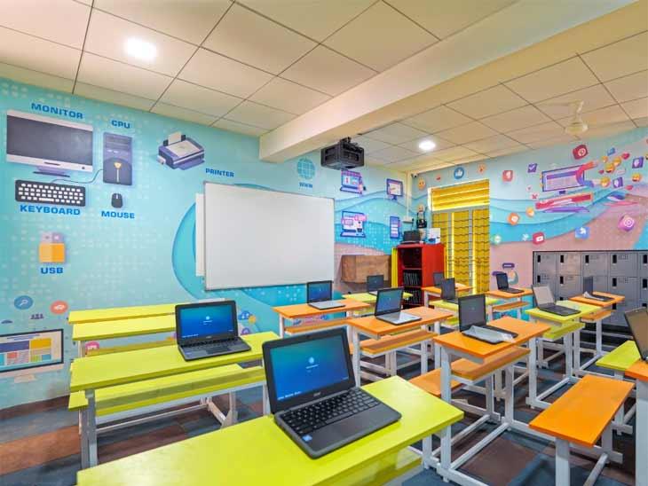 અમદાવાદ મ્યુનિસિપલ કોર્પોરેશન દ્વારા અત્યાધુનિક સ્માર્ટ સ્કૂલ બનાવવામાં આવી છે