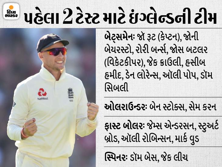 ભારત સામેની પહેલી 2 મેચ માટે જાહેર ટીમમાં આર્ચર અને વોક્સને આરામ; સ્ટોક્સ પણ ફિટ થયા બાદ પરત ફરશે ક્રિકેટ,Cricket - Divya Bhaskar