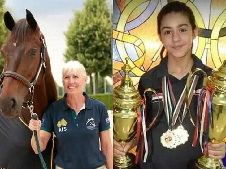 ટોક્યો ઓલિમ્પિકની સૌથી વરિષ્ઠ ખેલાડી મેરી હાના અને સૌથી યુવા ખેલાડી હેન્ડ ઝાઝાની તસવીર - Divya Bhaskar