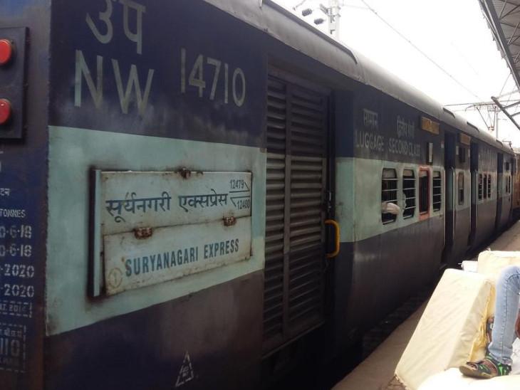 સૂર્યનગરી એક્સપ્રેસ ટ્રેન(ફાઇલ તસવીર) - Divya Bhaskar