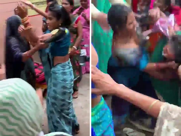 વેક્સિન માટે મહિલાઓ વચ્ચે છુટ્ટા હાથની મારામારી, એકબીજાને વાળ ખેંચી ખેંચીને પછાડી|ઈન્ડિયા,National - Divya Bhaskar