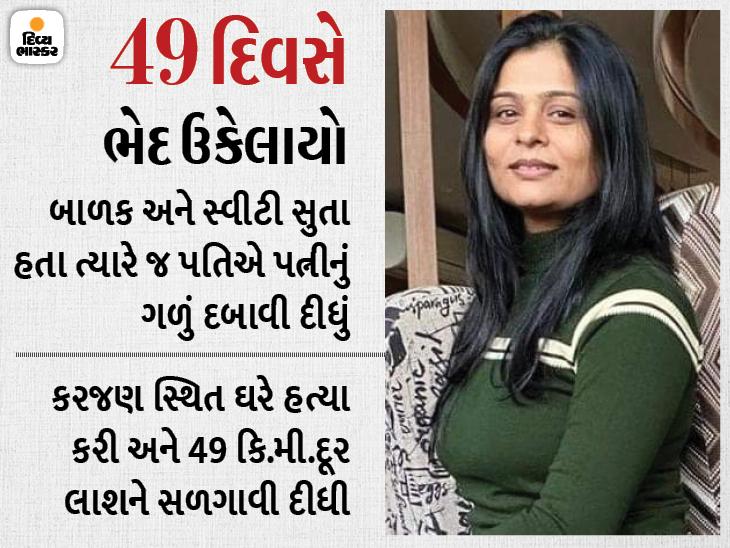 સ્વીટી પટેલનો પોલીસ પતિ અજય દેસાઈ જ હત્યારો નિકળ્યો, કરજણના બંગલે હત્યા કરી કિરીટસિંહની બંધ હોટેલ પાસે લાશ સળગાવી|અમદાવાદ,Ahmedabad - Divya Bhaskar