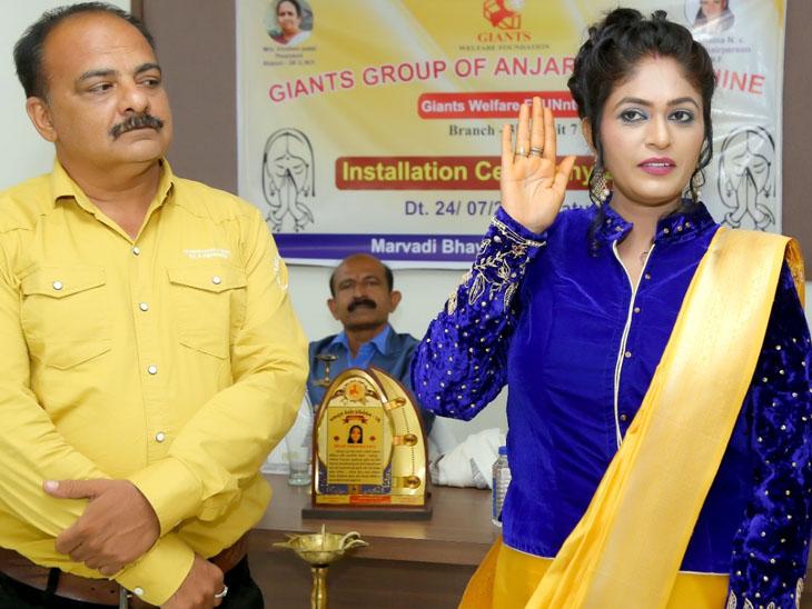 આદિપુરમાં જાયન્ટ્સ ઇન્ટ.અંજાર સાહેલીના હોદ્દેદારોએ શપથ લીધા|ગાંધીધામ,Gandhidham - Divya Bhaskar