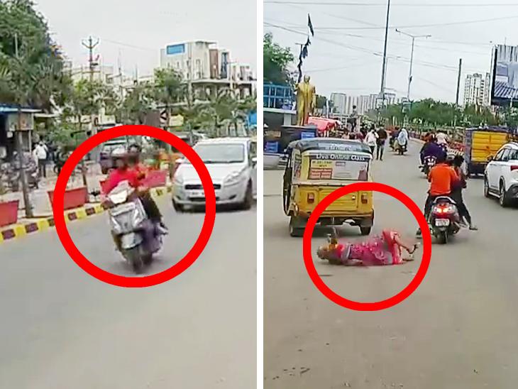 એક્ટિવાચાલકે રોંગસાઇડમાં કારને ઓવરટેક કરી વૃદ્ધાને ટક્કર મારી ઉલાળ્યા, જુઓ શૉકિંગ CCTV ફૂટેજ ઈન્ડિયા,National - Divya Bhaskar