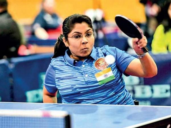 ટેબલ ટેનિસ ખેલાડી ભાવિના પટેલની તસવીર - Divya Bhaskar