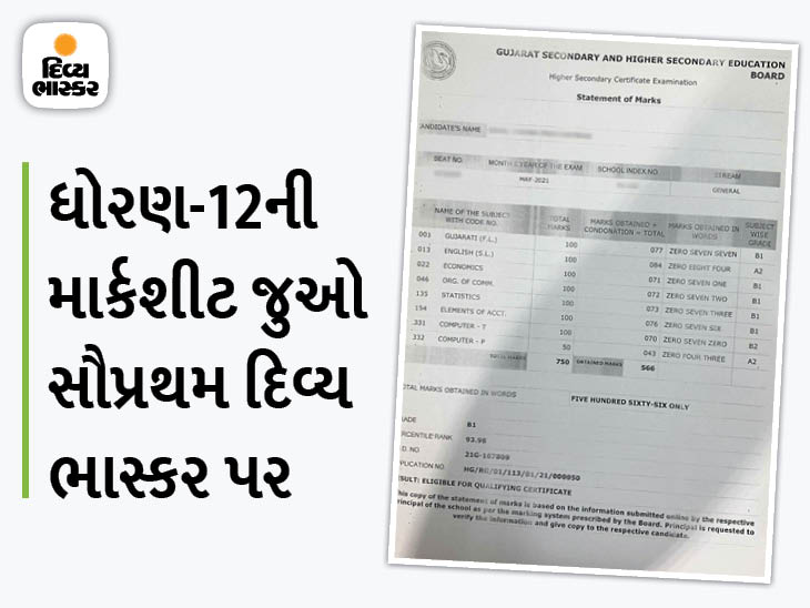 ધોરણ 12 સા.પ્ર.માં માત્ર 691 વિદ્યાર્થીને A1 ગ્રેડ મળ્યો,9495 વિદ્યાર્થીએ A2 ગ્રેડ મેળવ્યો, ધોરણ 10 પછી ધોરણ 12માં પણ A1 ગ્રેડમાં રાજકોટ પ્રથમ અમદાવાદ,Ahmedabad - Divya Bhaskar