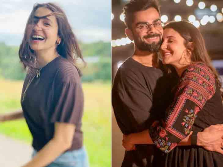અનુષ્કા શર્માને જોતા જ રોમેન્ટિક થયો વિરાટ કોહલી, ગાવા લાગ્યો- 'તારીફ કરું ક્યા ઉસકી...'|બોલિવૂડ,Bollywood - Divya Bhaskar