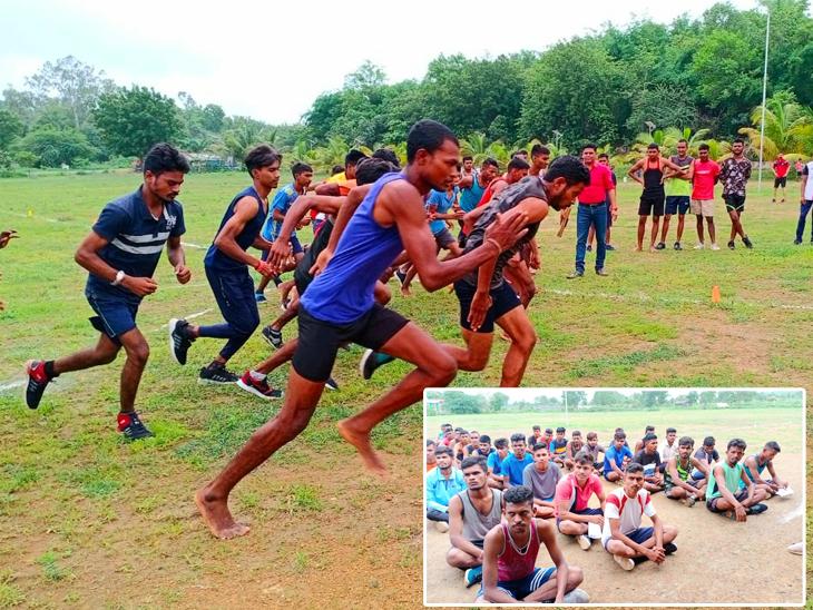 આઝાદી કા અમૃત મહોત્સવ ઉજવણી અંતર્ગત નસવાડીમાં જિલ્લા કક્ષાની દોડ સ્પર્ધાનું આયોજન કરાયું, 6 તાલુકાના રમતવીરોએ ભાગ લીધો|નસવાડી,Nasvadi - Divya Bhaskar