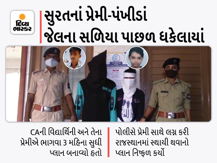 સુરતની CAની વિદ્યાર્થિની પ્રેમી સાથે ભાગી પિતા પાસે ખંડણી માગી, પોલીસે પકડીને પ્રેમી સાથે જેલમાં નાખી|સુરત,Surat - Divya Bhaskar
