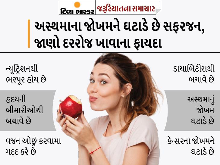 દરરોજ એક સફરજન ડાયાબિટીસના જોખમને 28% સુધી ઘટાડે છે, વજન પણ ઓછું કરે છે અને હૃદયની બીમારીઓથી પણ બચાવે છે|યુટિલિટી,Utility - Divya Bhaskar