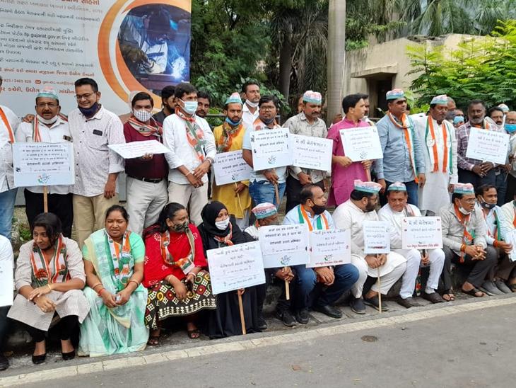 ગ્રાન્ટેડ કોલેજના ખાનગીકરણ મુદ્દેે NSUI અને યુથ કોંગ્રેસનો હોબાળો સુરત,Surat - Divya Bhaskar