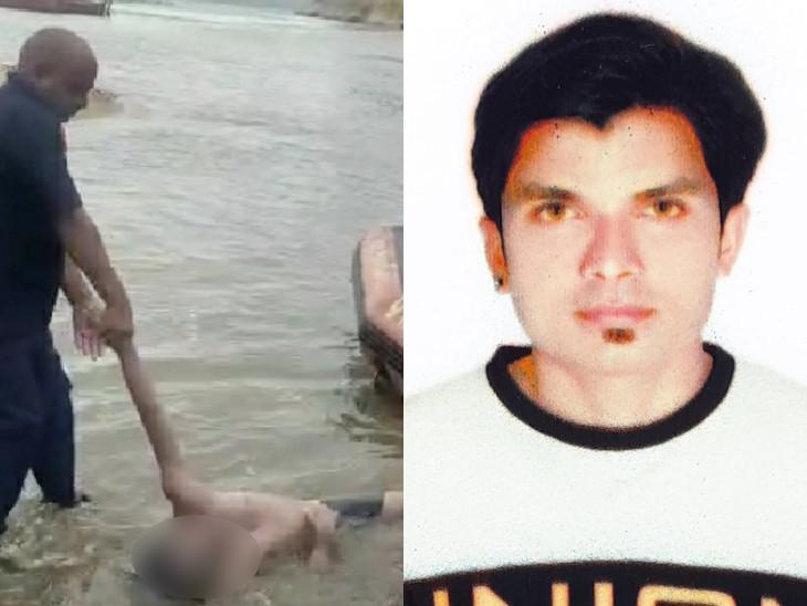 નર્મદા નદીમાં ડૂબેલા બે મિત્રો પૈકી એક મિત્રનો મૃતદેહ સોમવારે મળી આવ્યો હતો