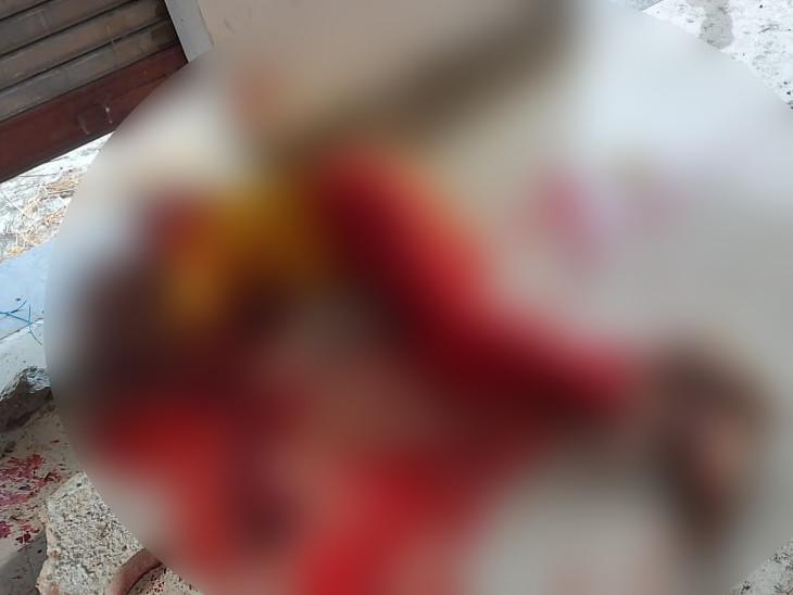 પીડિતાની લોહીલુહાણ તસવીર. - Divya Bhaskar