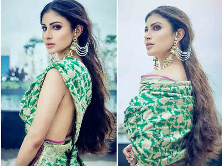 બ્લાઉઝ પહેર્યા વગર ગ્રીન સાડીમાં બોલિવૂડ એક્ટ્રેસ મૌની રોયે કરાવ્યું ફોટોશૂટ, તસવીરો વાઇરલ બોલિવૂડ,Bollywood - Divya Bhaskar